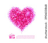 Burning Bright Pink Heart Of...