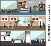flat design of business people...   Shutterstock . vector #390613786