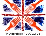 union forks  abstract union flag