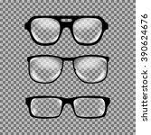Set Of Custom Glasses Isolated...
