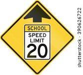 united states mutcd school zone ... | Shutterstock . vector #390626722