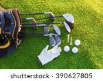 equipment for playing golf. | Shutterstock . vector #390627805