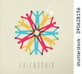 friendship diversity group... | Shutterstock .eps vector #390628156