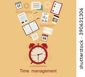 time management concept... | Shutterstock .eps vector #390631306