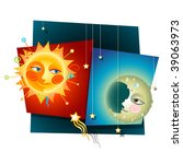 happy decorative collage of a... | Shutterstock .eps vector #39063973