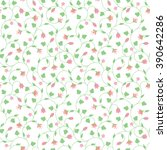seamless floral pattern with... | Shutterstock .eps vector #390642286