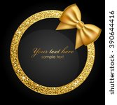 vector shiny frame with gold... | Shutterstock .eps vector #390644416