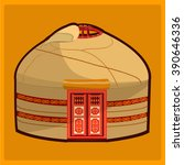 yurt illustration with...