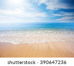 beach and tropical sea | Shutterstock . vector #390647236
