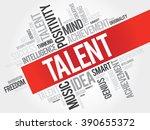 talent word cloud  business... | Shutterstock . vector #390655372