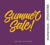 summer sales inscription | Shutterstock .eps vector #390655588