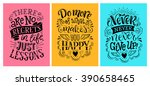 vector illustration with hand... | Shutterstock .eps vector #390658465