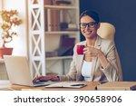 beautiful expertise. cheerful...   Shutterstock . vector #390658906