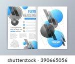 abstract vector brochure flyer... | Shutterstock .eps vector #390665056