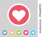 heart  love icon flat web sign... | Shutterstock .eps vector #390668992