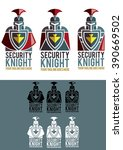 security knight is a modern ... | Shutterstock .eps vector #390669502