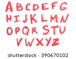 letters of cosmetic samples... | Shutterstock . vector #390670102