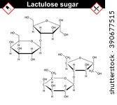 lactulose molecule  ... | Shutterstock . vector #390677515