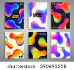 abstract fluid colors poster... | Shutterstock .eps vector #390693358
