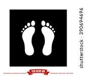 feet icon vector illustration... | Shutterstock .eps vector #390694696