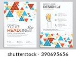brochure design template.... | Shutterstock .eps vector #390695656