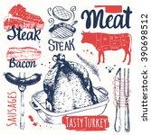 sketchbook with various of...   Shutterstock .eps vector #390698512