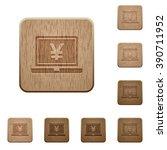 set of carved wooden yen laptop ...