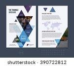 business brochure template...   Shutterstock .eps vector #390722812