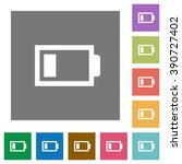low battery flat icon set on...