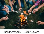marshmallow on skewers | Shutterstock . vector #390735625