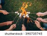 marshmallow on skewers | Shutterstock . vector #390735745