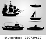 ship and boat icons set icon... | Shutterstock .eps vector #390739612