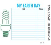 list of my works for earth day. ...   Shutterstock .eps vector #390747028