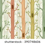 Seamless Pattern With Trees ...