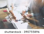 team working. photo young... | Shutterstock . vector #390755896