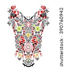 ethnic neck embroidery for... | Shutterstock .eps vector #390760942