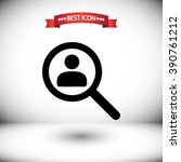 Find People Vector Icon. Find...