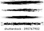set of grunge brush strokes   Shutterstock .eps vector #390767902