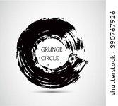 grunge circle.grunge round... | Shutterstock .eps vector #390767926