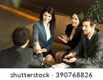 the conference of entrepreneurs.... | Shutterstock . vector #390768826