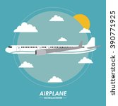 airplane icon design | Shutterstock .eps vector #390771925