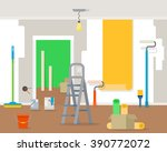 room repair in home. interior... | Shutterstock .eps vector #390772072