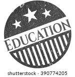 education pencil strokes emblem | Shutterstock .eps vector #390774205