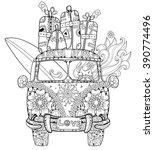 hand drawn doodle outline retro ... | Shutterstock .eps vector #390774496
