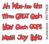 lettering. hand drawn words... | Shutterstock .eps vector #390775828