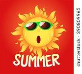 the sun hot | Shutterstock .eps vector #390809965