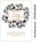 vintage delicate invitation... | Shutterstock .eps vector #390810685