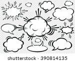 a set of comic bubbles speech . | Shutterstock .eps vector #390814135
