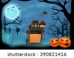 house in forest | Shutterstock .eps vector #390821416