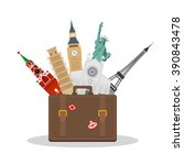 travel or tourism concept.... | Shutterstock .eps vector #390843478